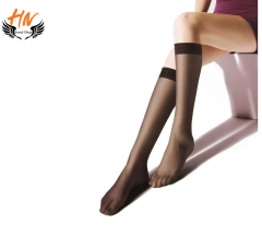 HN Brand 1 Pair New Fashion In the cylinder proof hook Socks Cheap Sale Women Silk stockings black scalable