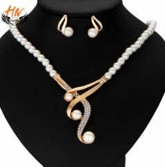 HN Brand 3 piece/Set New Fashion Personalized pearl necklace high-grade jewelry white one size
