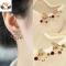 HN Brand 1 pair/Set New Beautiful Hot Diamond diamond color Pentagram bow crown Earrings Jewellery crown 1.8cm*1.7cm