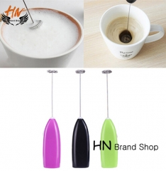HN Brand-Drinks Milk Frother Foamer Whisk Mixer Stirrer Egg Beater Electric Mini Handle High Quality mix color as picture