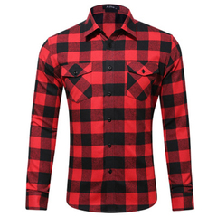 HN Brand all-cotton spring and autumn men's shirt casual long sleeve slim fit men's shirt style 1 S