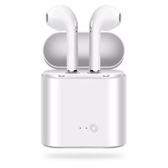 HN one i7S Long lasting Wireless Bluetooth Earphone Stereo with Chargable box for phone IOS/Andrioid white