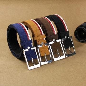 High Quality Braided Golf Leather Belts For Men Luxury Fashion Hit Color Jeans Buckle Belt leather belt brown 110cm