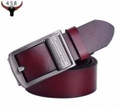 Belts For Men Fashion Able Wild Pure Leather Belt Durable Classic Casual Business Luxury Jeans leather belt coffee 115cm