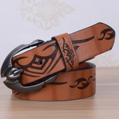 Hot Men's Leather Belt Pin Buckle 30% Cowhide Jeans Belt For Men Strap Designer Belts leather belt brown 110cm