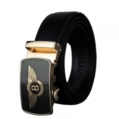 Brand Business Genuine Leather Belt Metal Automatic Buckle Men Belt Luxury Men Belts black 110cm