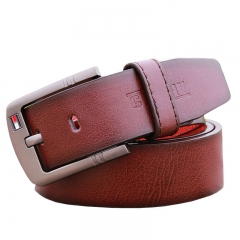 Hot Sale Men Belt For Luxury Brand Pin Buckle Strap Vintage Jeans Cowboy Waistband leather belt white 110cm