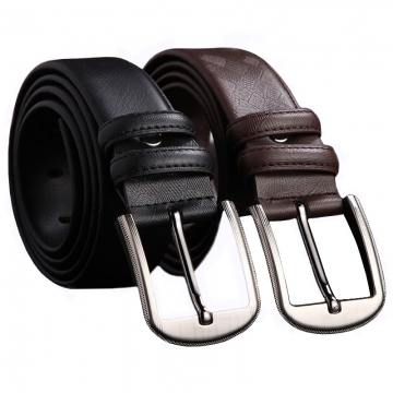 New High Quality Brand Mens Belt Luxury 100% Genuine Cowskin Texture Pattern Pin Buckle Strap leather belt coffee 120cm
