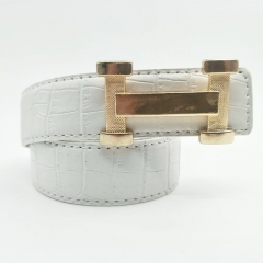 Fashion Top Brand Leather Men Belt Hermes Women PU Leather Belt white 110cm