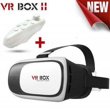Glasses+Bluetooth Gamepad+Virtual Reality VR BOX 2.0 II 3D Glasses VR Google cardboard Helmet 3D White 21x15x14cm One size