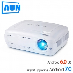 AUN A KEY2LED Projector, 3500 Lumens Upgrade Android 7.0 4K Video Full HD 1080P LED TV