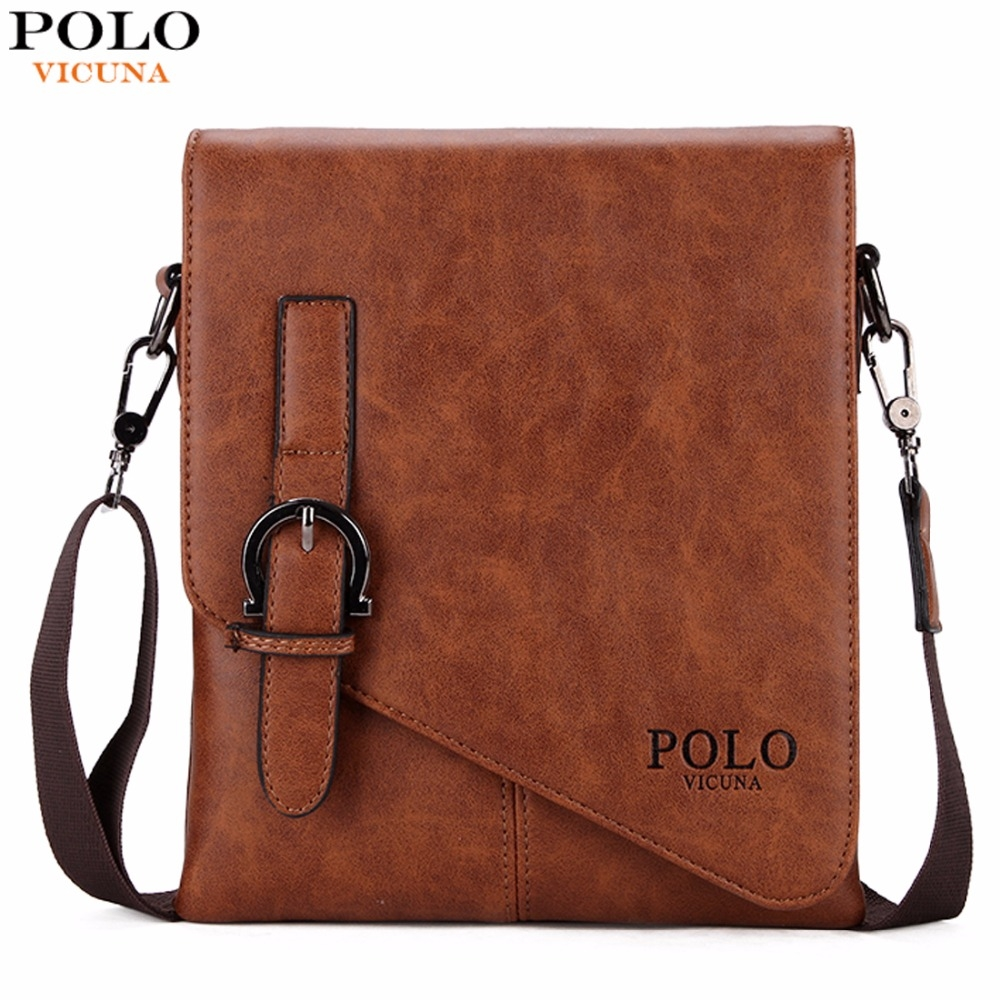 VICUNA POLO Unique Buckle Design Cover Open Mens Business Men Crossbody Bag  Leather Man Bag khaki large  Product No  1285416. Item specifics  Brand  f97074684cf9e