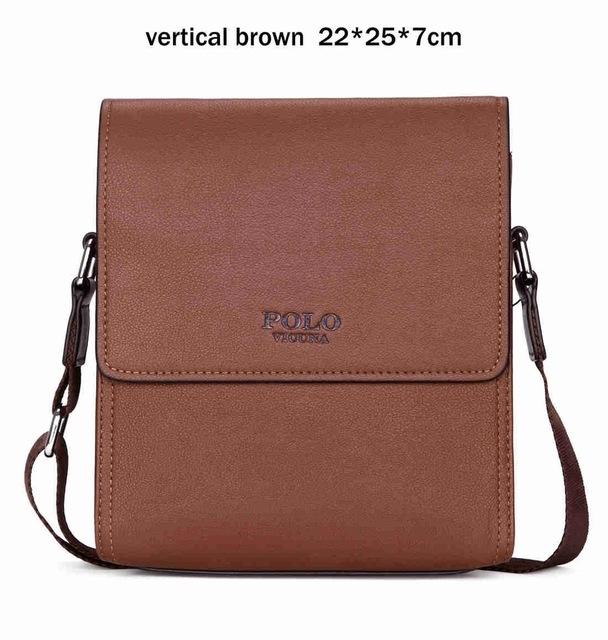 e889839920544 VICUNA POLO Brand Business Man Quality Casual Bag Vintage Mens Briefcase  Messenger Bag Man Handbag brown large  Product No  1285481. Item specifics   Brand