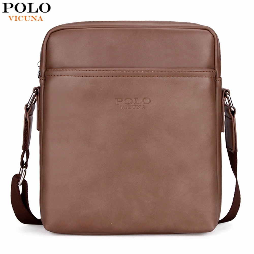 VICUNA POLO Simple Solid Design Business Man Bag Casual Classic Leather Bag  For Men Messenger Bag brown small  Product No  1285932. Item specifics   Brand  607f6b2d07c56