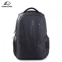 Kingsons Brand 15.6 inch Laptop Backpack Men's Bag Multifunction Rucksack black 15 inches