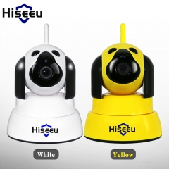 hiseeu Home Security IP Camera Wi-Fi Wireless Smart Dog wifi  720P  Baby Monitor FH4 white 720p