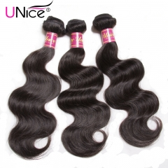 UNICE Hair Brazilian Body Wave Lace Closure Free Part 4  With Closure Swiss Lace Remy Hair Extension body wave 10&12&14&Closure 10