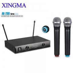 XINGMA AK-200 two channel wireless microphone black 12v AK-200