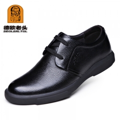 2017 Newly Men's Genuine Leather Shoes Zapatos de hombre The Top Head Leather Soft Man Dress Shoes black 8