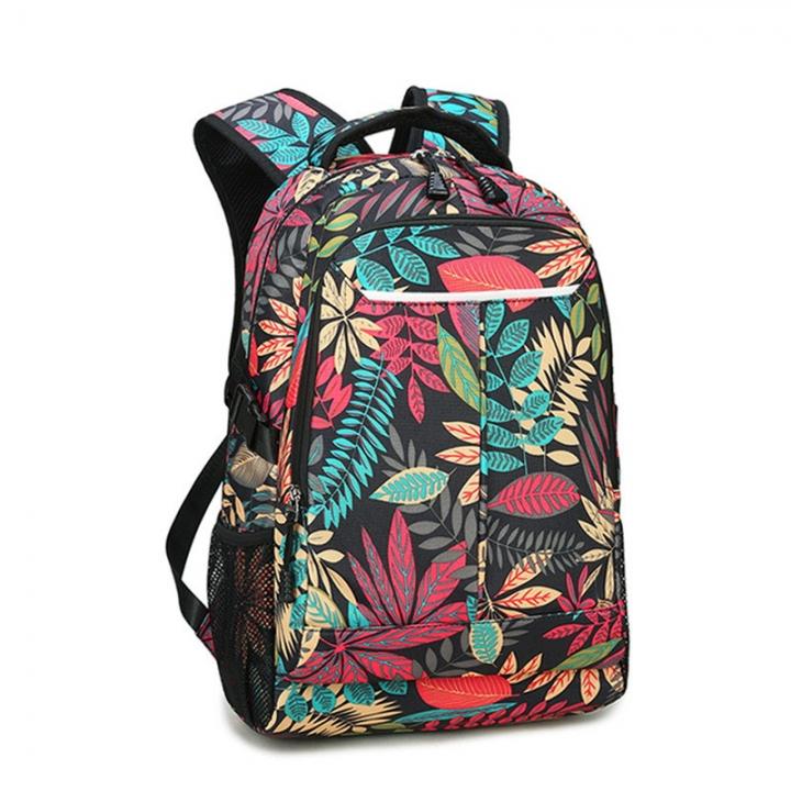 f44278bea461 YUFANG fashion backpack canvas men pattern women travel bag college student  school bag big capacity black