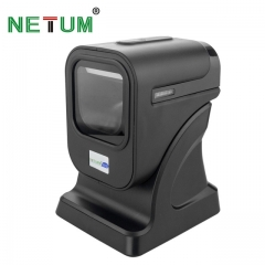 POS High Quality 2D Omnidirectional Barcode Scanner Desktop Flatbed Bar code Reader for Retail black one size