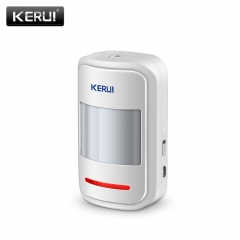 KERUI Wireless Intelligent PIR Motion Sensor Alarm Detector For GSM PSTN Home Burglar Alarm System whie 10-12 meter