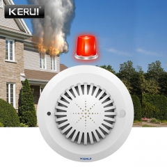 KERUI SD02 High Sensitivity Voice Prompts Smoke Fire Detector/Sensor Low Battery Remind linkage With whie one sinz