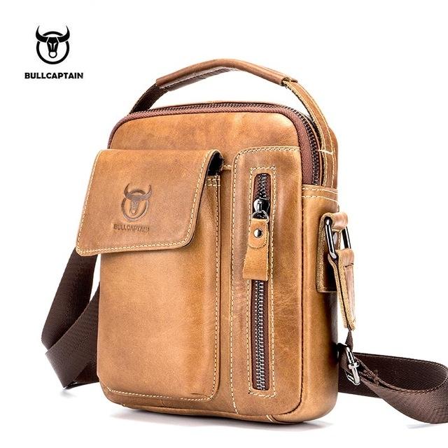 f06f34d71c07 ... Genuine Leather Men Messenger Bag Casual Crossbody Bag Business Men s  Handbag Bags light brown one size  Product No  2682452. Item specifics   Brand