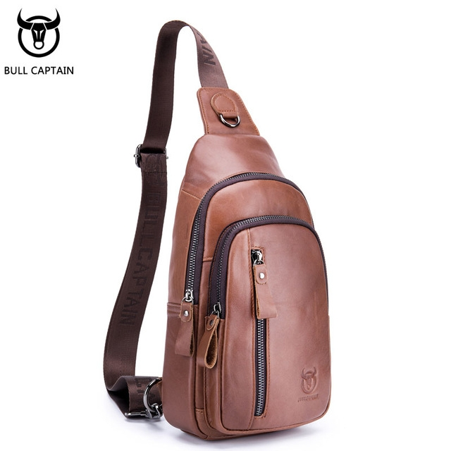 a54fb7ff2100 BULLCAPTAIN Fashion Genuine Leather Crossbody Bags men Brand Small Male  Shoulder Bag casual men s brown small  Product No  2701940. Item specifics   Brand