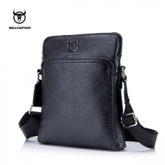 BULLCAPTAIN New Fashion Brand Men Bag Genuine Leather Messenger Bag Business Casual Briefcase black small