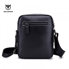 BULLCAPTAIN Famous Brand Genuine Leather Men Bag Casual Business Messenger Men's Bag Male Crossbody black small