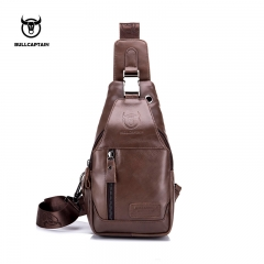 BULLCAPTAIN Fashion Genuine Leather Crossbody Bags men casual messenger bag Small Brand Designer coffee small