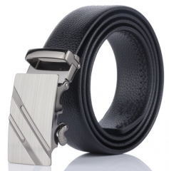 2018 Brand Men Fashion Business Belts Genuine Leather Strap Male Belt Jeans Automatic Buckle Belt Black Normal