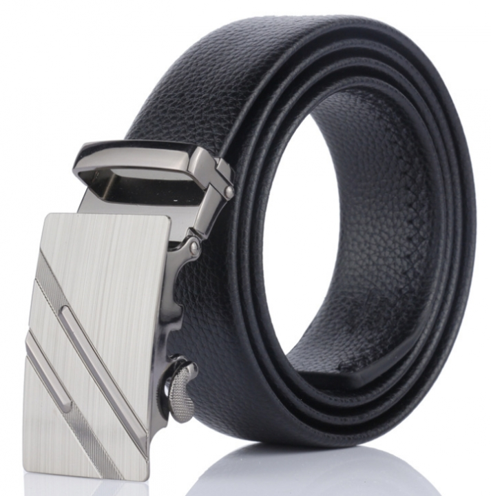 2019 Brand Men Fashion Business Belts Genuine Leather Strap Male Belt Jeans Automatic Buckle Belt Black Normal