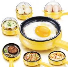TAGA TAG KITCHEN -Magic Frying Pan Egg Steamer&Pan Yellow one size
