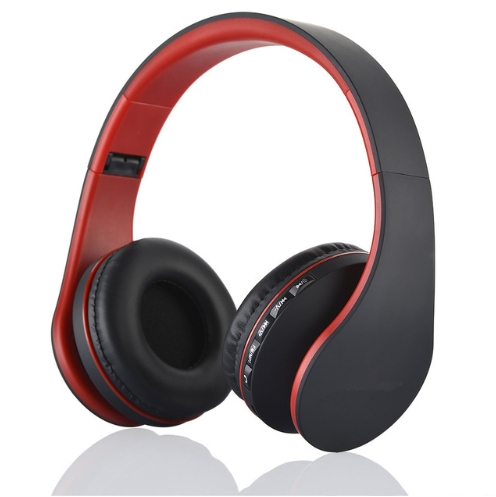 Wireless Bluetooth Stereo Headset Foldable Headphone Earphone for iPhone Samsung Android black+red