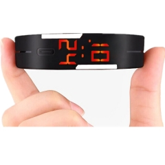 Smart Watch LED Digital Bracelet Watch Sport Strap Wristwatch for Men Women black one size