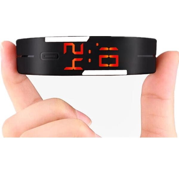 Smart Watch LED Digital Bracelet Watch Sport Strap Wristwatch for Men Women black one size