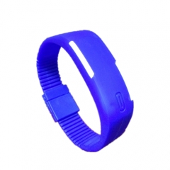 Smart Watch LED Digital Bracelet Watch Sport Strap Wristwatch for Men Women blue one size