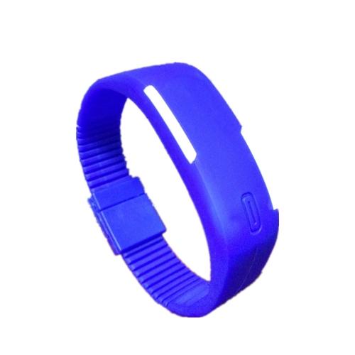 Smart Watch LED Digital Bracelet Watch Sport Strap Wristwatch for Men Women blue one size