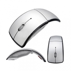 Foldable Wireless Arc Optical Mouse Mice with USB Receiver for PC Laptop Notebook Computer