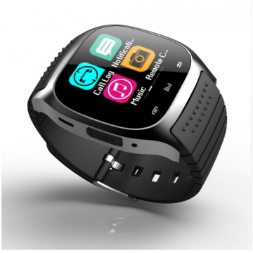 M26 Phone Clock with Sim Card Slot Push Message Bluetooth WristWatch Android System black one size