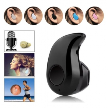 Wireless Bluetooth Headset Earphones Mini Music Wireless Earbuds For All Smart Phone tablet black one size