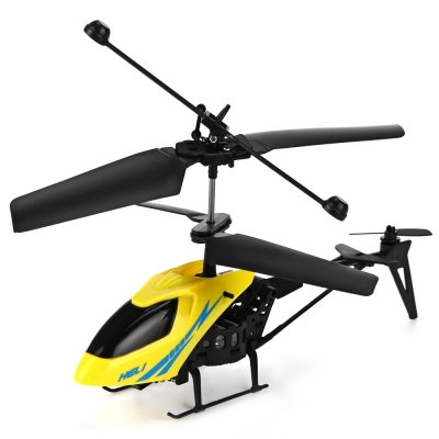Mini RC 901 Helicopter Shatter Resistant 2.5CH Flight Toys with Gyro System yellow+black normal