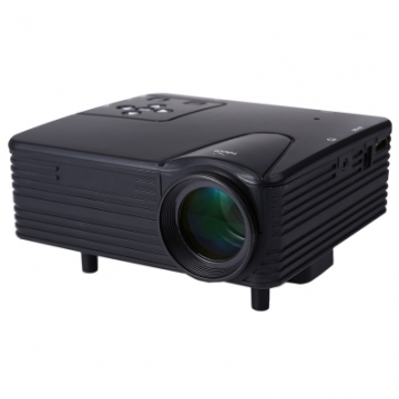 H80 640 x 480 Pixels Full HD 1080P Mini LED Projector Home Theater black Normal
