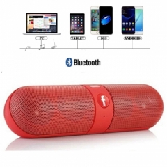 Kill Price-Portable Capsule Wireless Stereo HIFI Bluetooth Speaker red one size