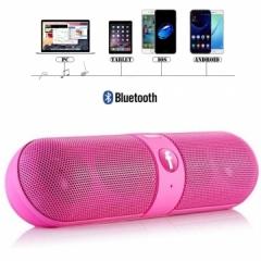 Kill Price-Portable Capsule Wireless Stereo HIFI Bluetooth Speaker pink one size
