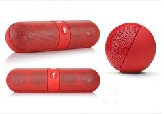 Kill Price-Portable Capsule Wireless Stereo HIFI Bluetooth Speaker red one size