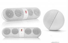 Kill Price-Portable Capsule Wireless Stereo HIFI Bluetooth Speaker white one size