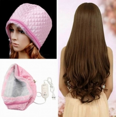 220-250V 3 strength Hair Care baking oil cap steaming hot hair salon membrane electric cap pink normal